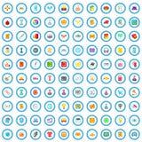 100 icônes de projet réglées, style de bande dessinée illustration libre de droits