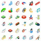 Icônes de projet réglées, style isométrique illustration libre de droits