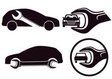 Icônes de réparation de voiture Photographie stock