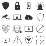Icônes de sécurité illustration stock