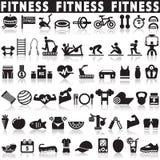 Icônes de santé et de forme physique illustration stock