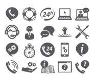 Icônes de service de support Photo libre de droits