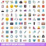 100 icônes de service SVP réglées, style de bande dessinée illustration libre de droits