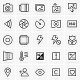 Icônes de site de photo illustration stock