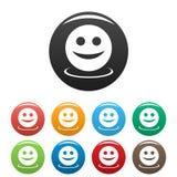 Icônes de sourire réglées illustration de vecteur