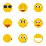 Icônes de sourire réglées, style de bande dessinée illustration libre de droits