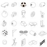 Icônes de sport réglées, style 3d isométrique illustration stock