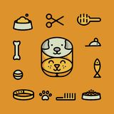 Icônes de symbole d'animal familier illustration stock
