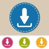 Icônes de téléchargement - illustration colorée de vecteur - d'isolement sur le fond monochrome Photographie stock