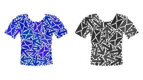 Icônes de T-shirt de mosaïque de mouvement de courrier illustration stock