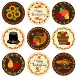 Icônes de thanksgiving Image libre de droits