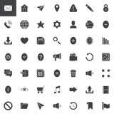 Icônes de vecteur de bases de Web réglées illustration de vecteur