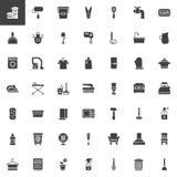 Icônes de vecteur d'éléments de ménage réglées illustration libre de droits