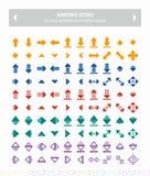 Icônes de vecteur de flèches - colorées image libre de droits