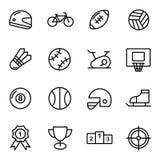 Icônes de vecteur de la forme physique 16 et du sport Photographie stock