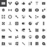 Icônes de vecteur de pièces de voiture réglées illustration libre de droits