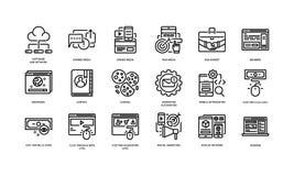 Icônes de vente de Digital illustration stock