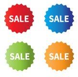 Icônes de vente sur le fond blanc placez le signe d'étiquettes de vente Images stock