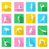 Icônes de yoga réglées illustration de vecteur