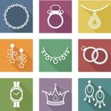 icônes des bijoux Photographie stock