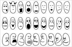 Icônes drôles d'émotion illustration stock