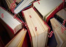 icônes et livres de symbole de la section 3D Image libre de droits
