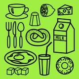 Icônes faisant cuire de nourritures et de cuisine ensemble réglées illustration de vecteur