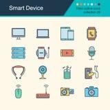 Icônes futées de dispositif Collection remplie 29 de conception d'ensemble Pour pré Image libre de droits
