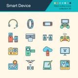 Icônes futées de dispositif Collection remplie 30 de conception d'ensemble Pour pré Photo libre de droits