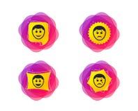 Icônes humaines de visage de sourire Heureux, triste, cri Vecteur illustration libre de droits
