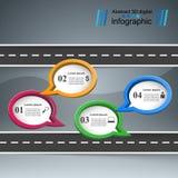 Icônes infographic de calibre et de vente de conception de route Photographie stock