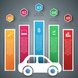 Icônes infographic de calibre et de vente de conception de route Graphisme de véhicule Images stock