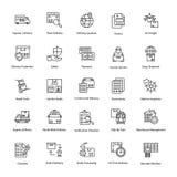 Icônes innovatrices de la livraison de logistique Photo stock
