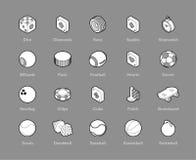 Icônes isométriques d'ensemble réglées Photo stock