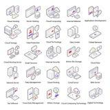 Icônes isométriques d'Hébergement Web illustration de vecteur