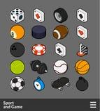 Icônes isométriques de couleur d'ensemble réglées Photo stock