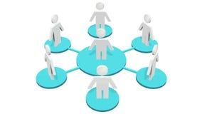 icônes 4k, travail d'équipe d'affaires, Social ou réseau humain d'affaires, un groupe de personnes dans un groupe social, fond bl illustration de vecteur
