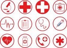 Icônes médicales nouvelles illustration de vecteur