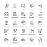Icônes marginales de la livraison de logistique Photos libres de droits
