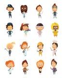 Icônes mignonnes de bande dessinée de professions de personnes Photos stock