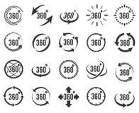 360 icônes panoramiques Photos libres de droits