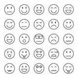 Icônes parfaites de pixel d'émotion illustration de vecteur