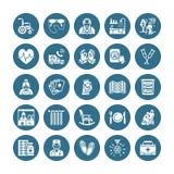 Icônes plates de glyph de vecteur plus âgé de soin Activité de personnes âgées d'éléments de maison de repos, fauteuil roulant, c illustration de vecteur