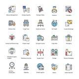 Icônes plates de la livraison de logistique illustration de vecteur