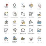 Icônes plates de la livraison de logistique illustration libre de droits