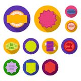 Icônes plates de label différent dans la collection d'ensemble pour la conception L'index et la marque dirigent l'illustration co illustration libre de droits