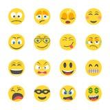 Icônes plates de smiley illustration stock