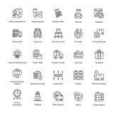 Icônes prolifiques de la livraison de logistique Photo stock