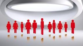icônes rouges de genre illustration stock