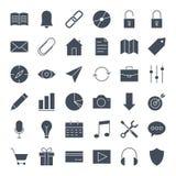 Icônes solides de Web d'interface utilisateurs Image stock